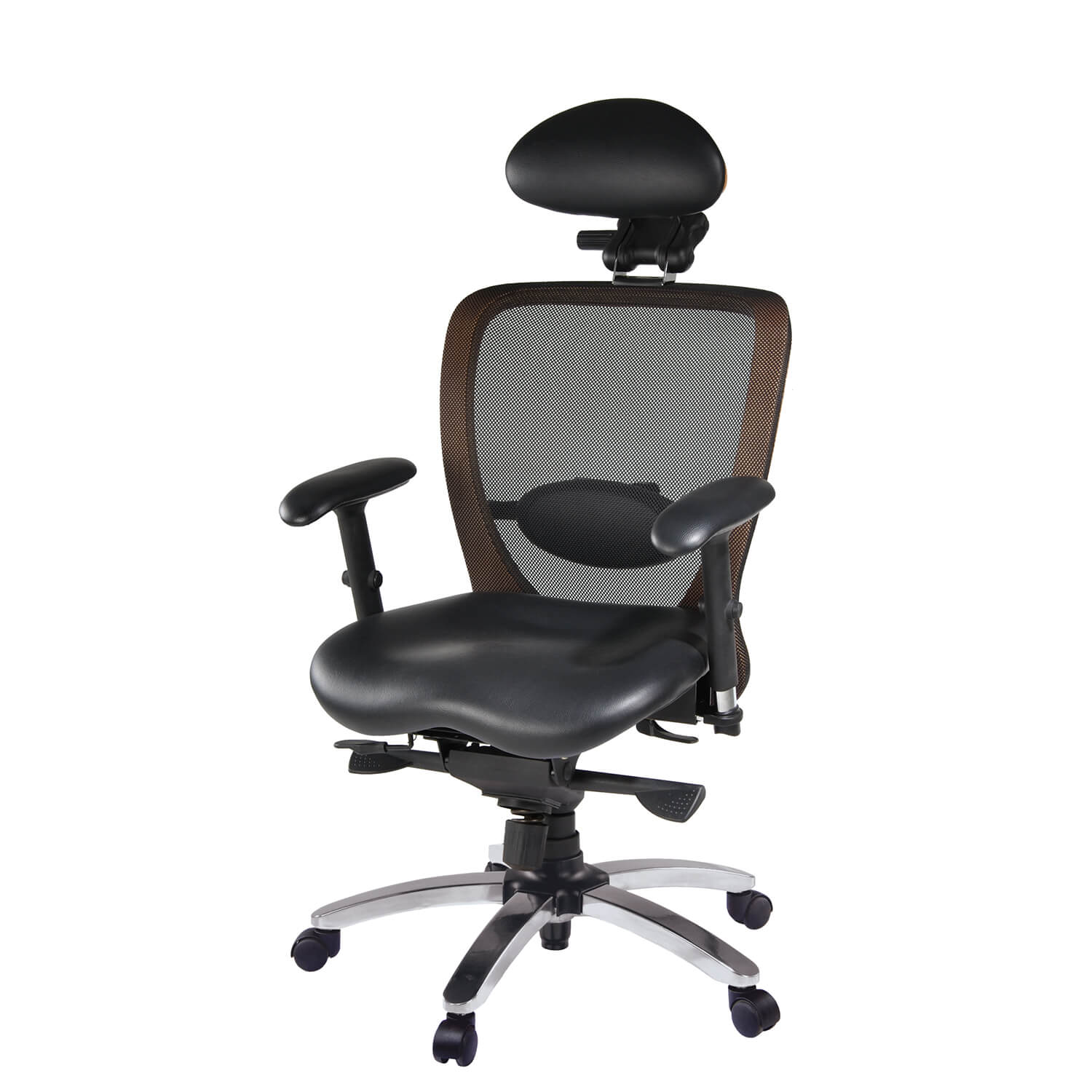 fauteuil tournant de bureau ergotec synchro pro cuir careshop. Black Bedroom Furniture Sets. Home Design Ideas